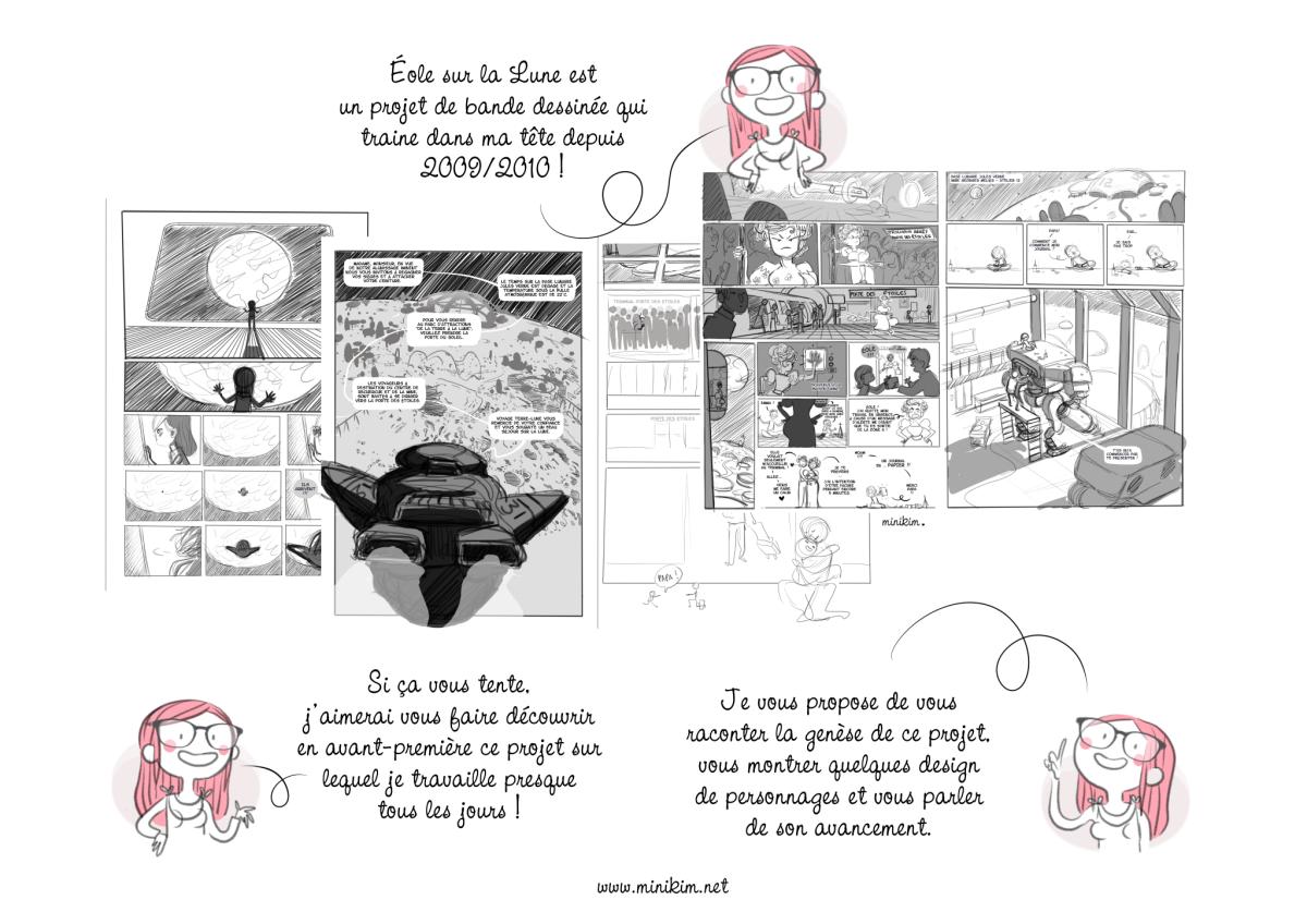 Bande dessinée de l'année Éole sur la Lune MiniKim