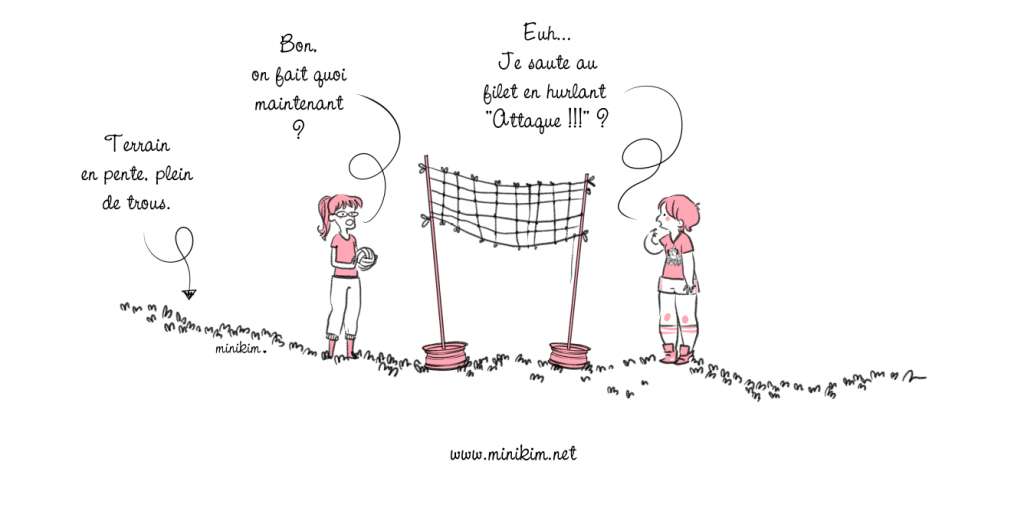 Dessin de volley ball illustration