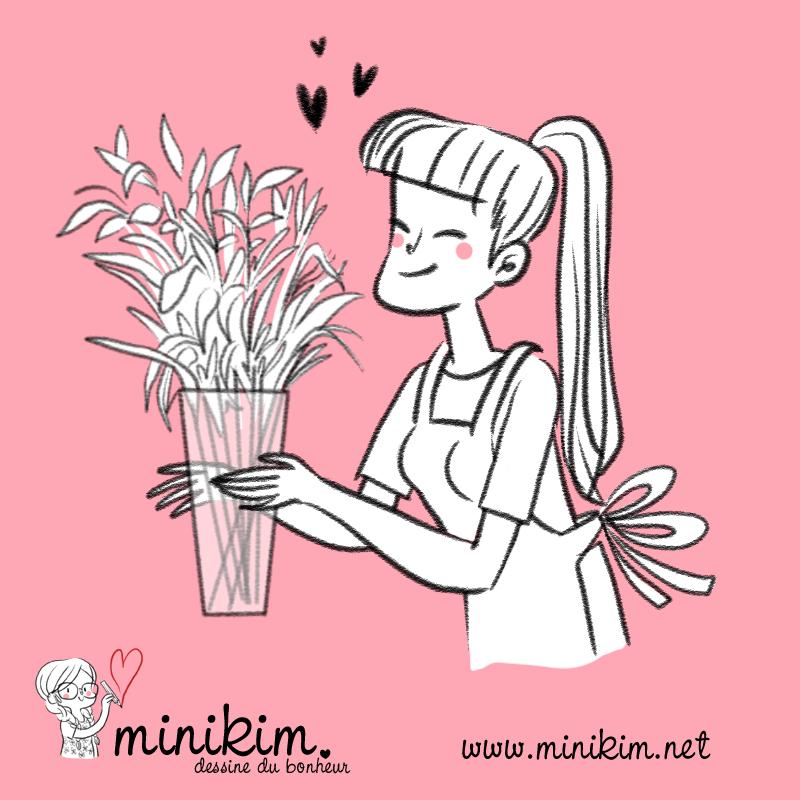 J'aime les fleurs dessin de fleurs dessin de plantes dessin de fleuriste