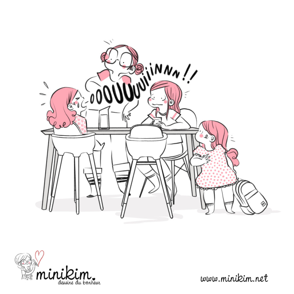 Blog BD à table en famille rentrée des classes bande dessinée maman blog dessine blog dessiné
