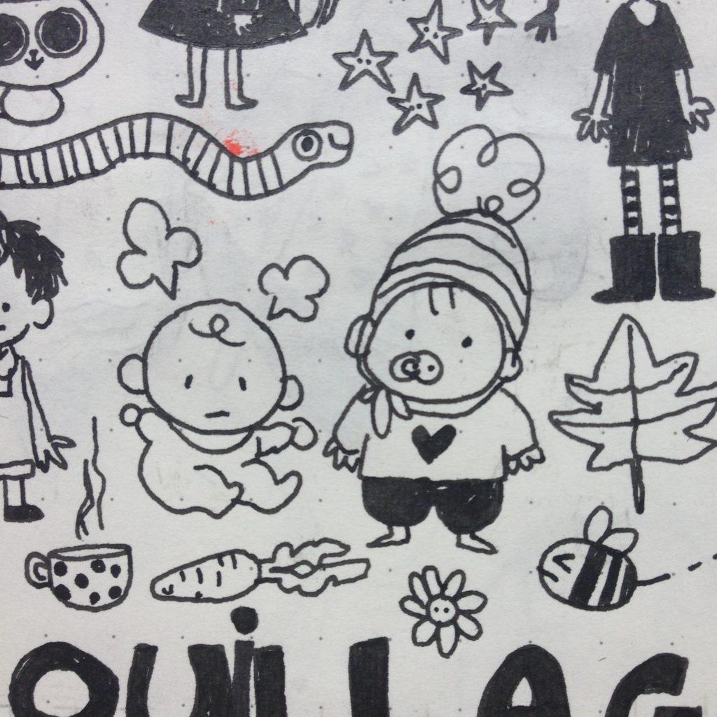 Petits croquis, japanese doodle, dessiner à la japonaise, dessins à l'encre, carnet addict, dessin mignons, bullet journal, BuJo, français, doodles, muji, MiniKim, Muji stationnery, carbon ink pen, platinum, montréal, MiniKim, BD, Bande dessinée, Illustrateur, Québec, illustration jeunesse, illustration, édition, kawaii, cute, bonheur