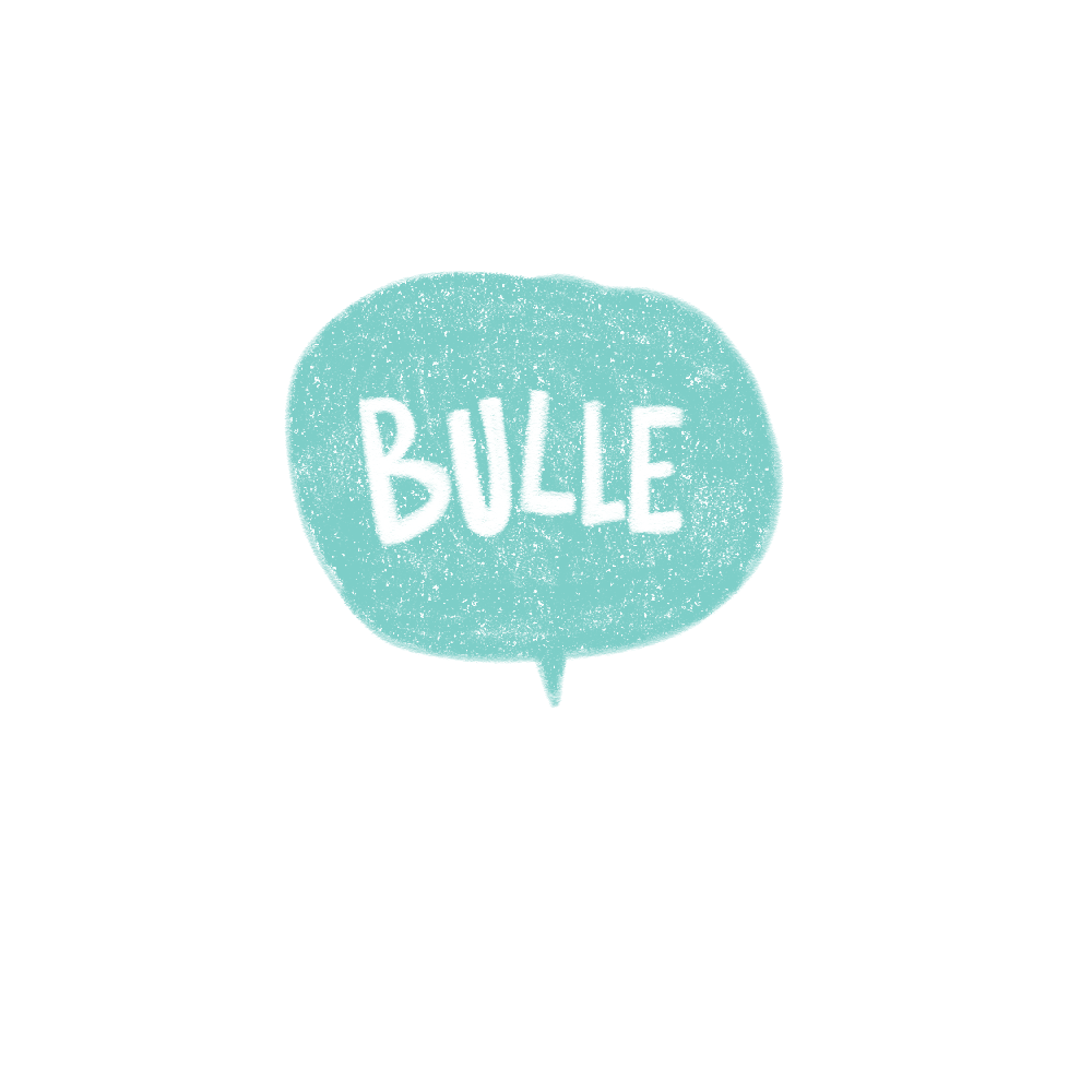 logo, Minikim, Bulle, bande dessinée, titre, title, création de logo, illustration, cute, mignon, adorable, aqua and red, rouge et bleu, dessin, recherche de logo, essais erreurs