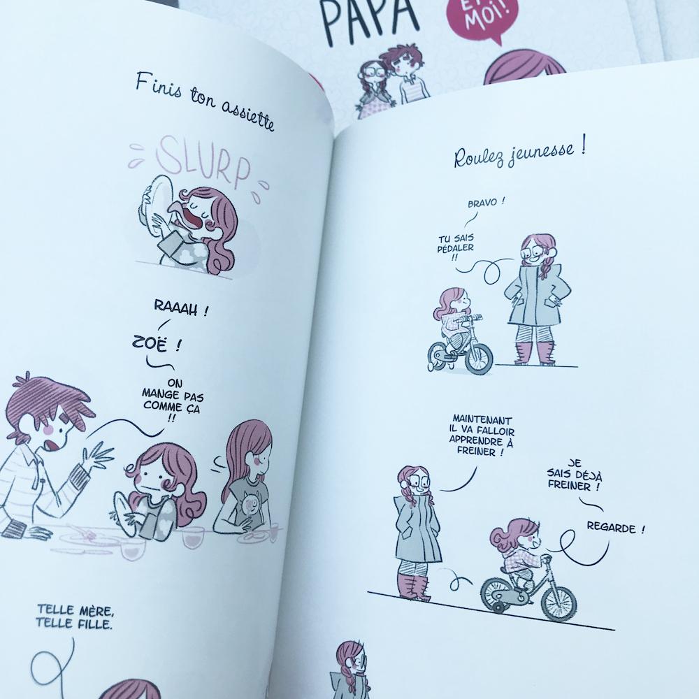 Couverture du livre Maman papa et moi et moi et moi par minikim maïté lajic